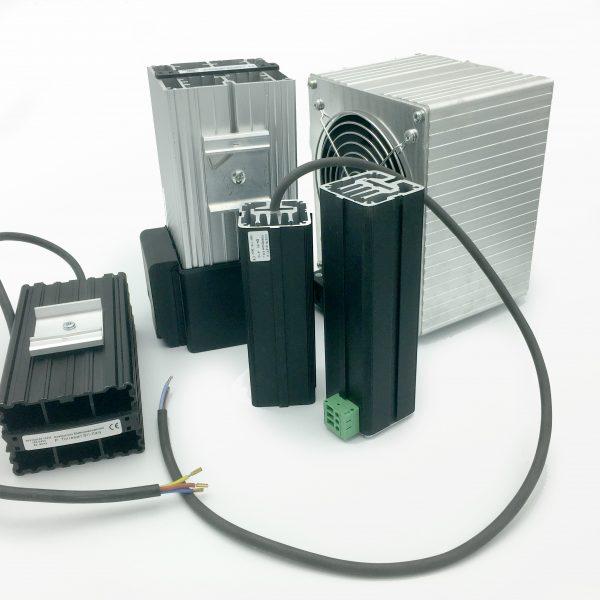 Aluminium tube diffuser with self-regulating heating PTC element